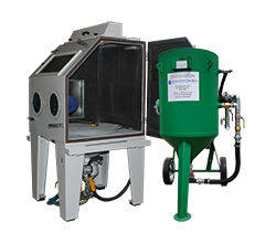 Mobile and cabin sandblasting machines